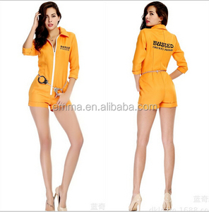 Carnival party prisoner costumes fashion style uniform for prisoner fancy dress costume wholesale BWG-2508