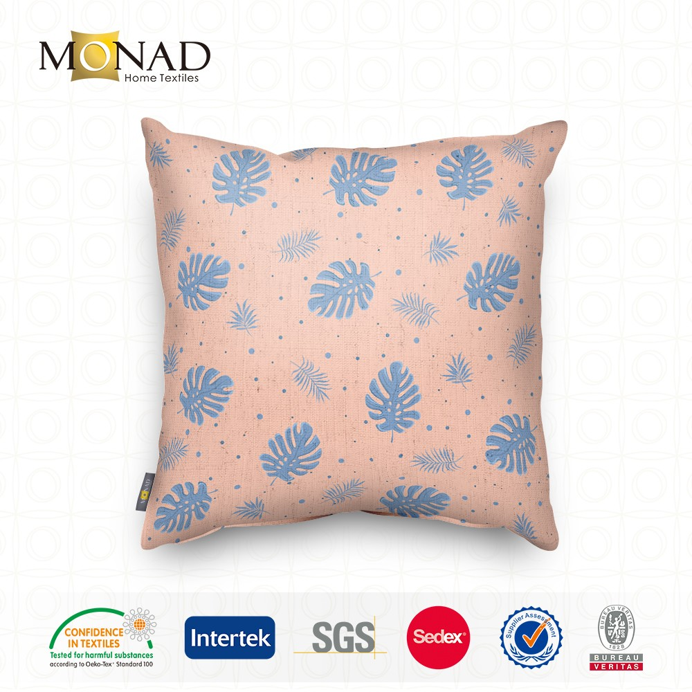 Wholesale Modern Digital Print Tropical Rainforest Palm Leaf Cushion Cover