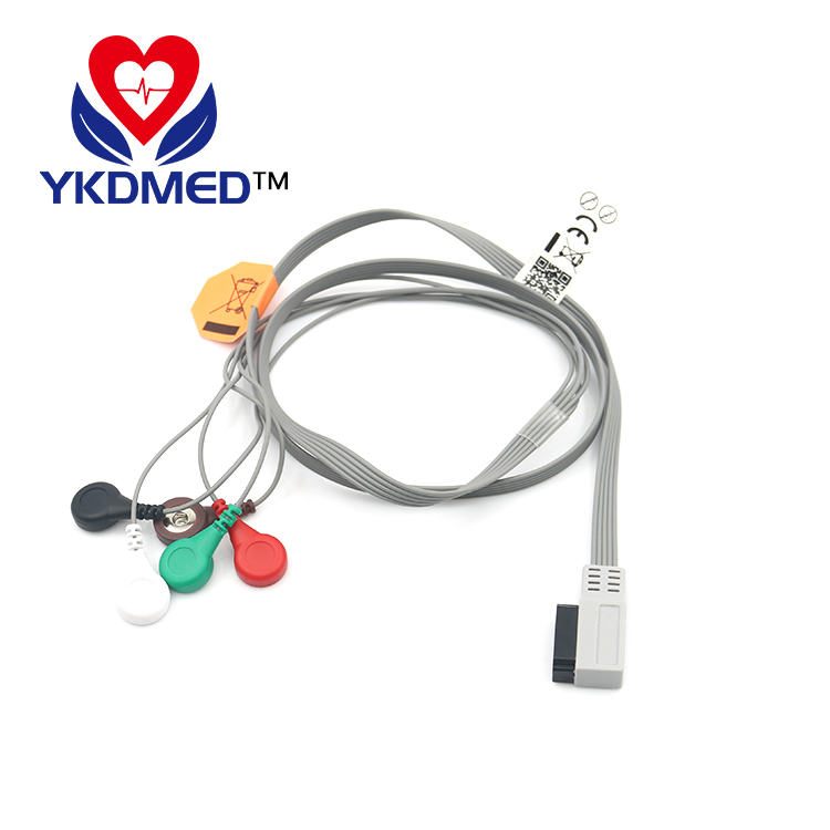 Lowest price! M4725A telemetry AHA Snap 5 lead holter ecg cable