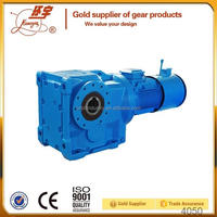 Low RPM electric motor speed reducer with Backstop