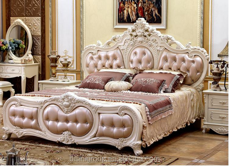 Elegante nieuwste interieur bruiloft decoratie bed massief hout