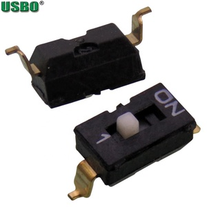 Hotselling 1 Position 2Pins Subminiature Slide DIP Dial Patch Switch