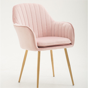 Popular Nordicals Upholstered Dining Chairs Pink Dressing Chair For Sale  CHAIR VELVET