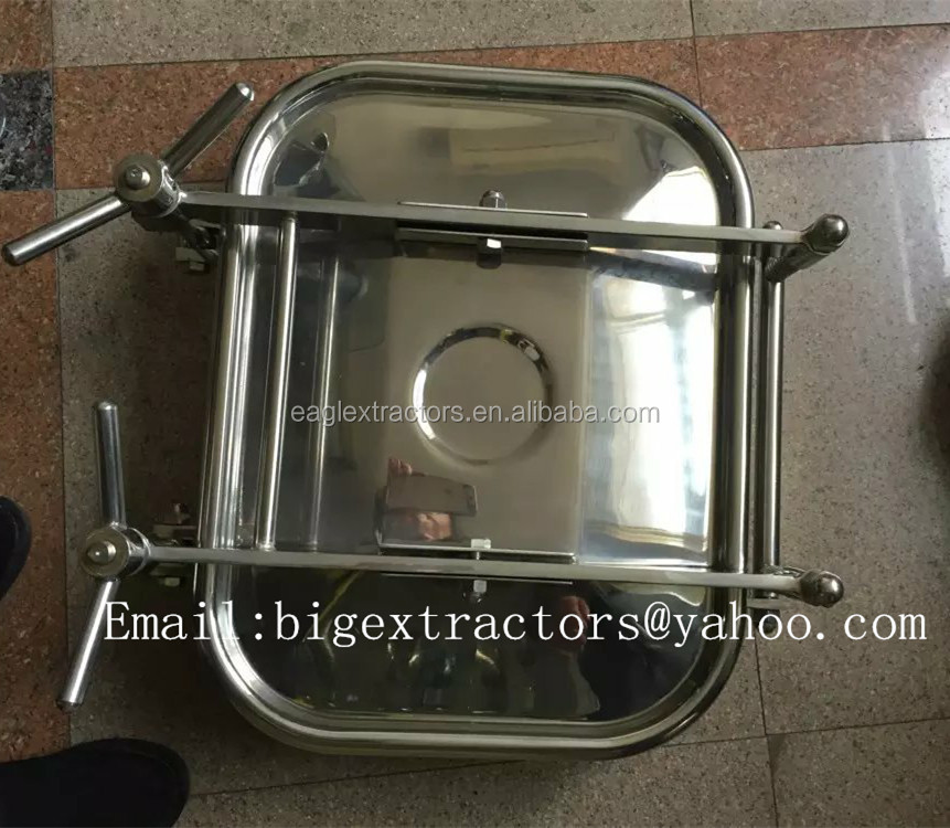 Sanitary SS304 Stainless Steel Square type pressured manhole cover /Manway