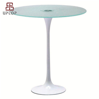 Sp Gt388 Supply Tempered White Eero Saarinen Tulip Gl Table