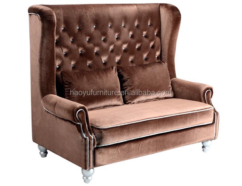 Tb02 Hohe Rückenlehne Chesterfield-sofa 2-sitziges Sofa Samt  Chesterfield-sofa - Buy Hohe Rückenlehne Chesterfield-sofa,Samt ...