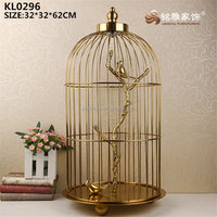 Big design gold color lobby ornament Chinese style interior home garden decorative metal crafts