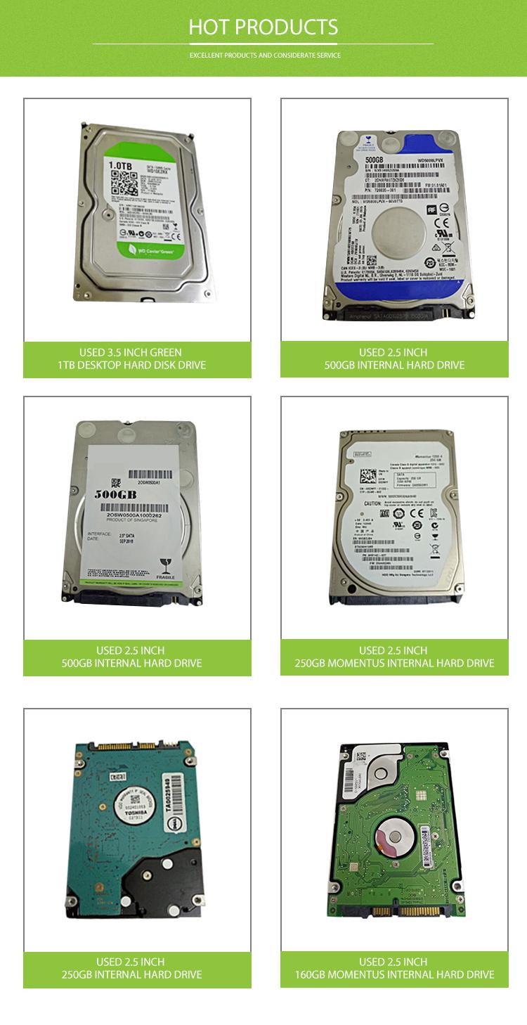 Vendita calda Utilizzata Da 2.5 Pollici 250 GB di Disco Rigido Interno