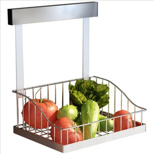 High Quality Wall Mounted Kitchen Storage Metal Hanging Fruit and Vegetable Rack Basket