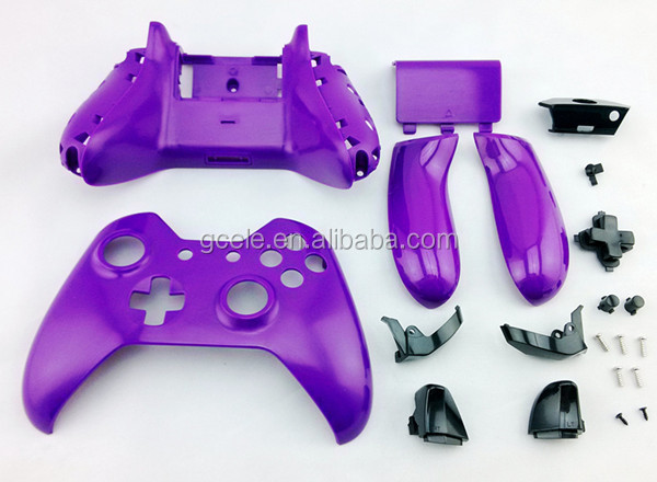 Hot selling Buttons for XBOX ONE controller shell with full repair parts purple