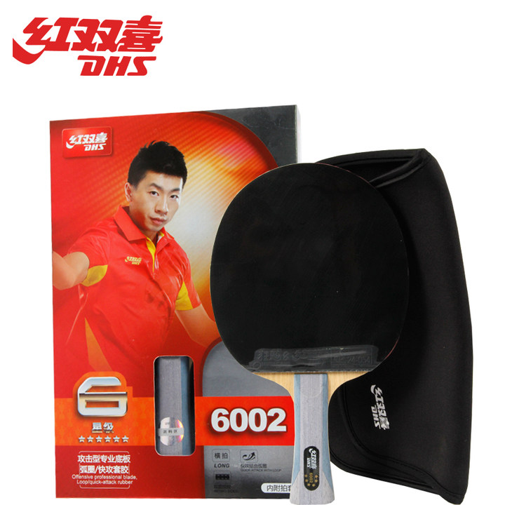 DHS 6002 offensief professionele blade loop snelle aanval rubber tafeltennis racket bat ping pong paddle
