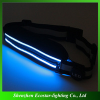 Top sale led rechargeable wait bag/led rechargeable belt for night sport
