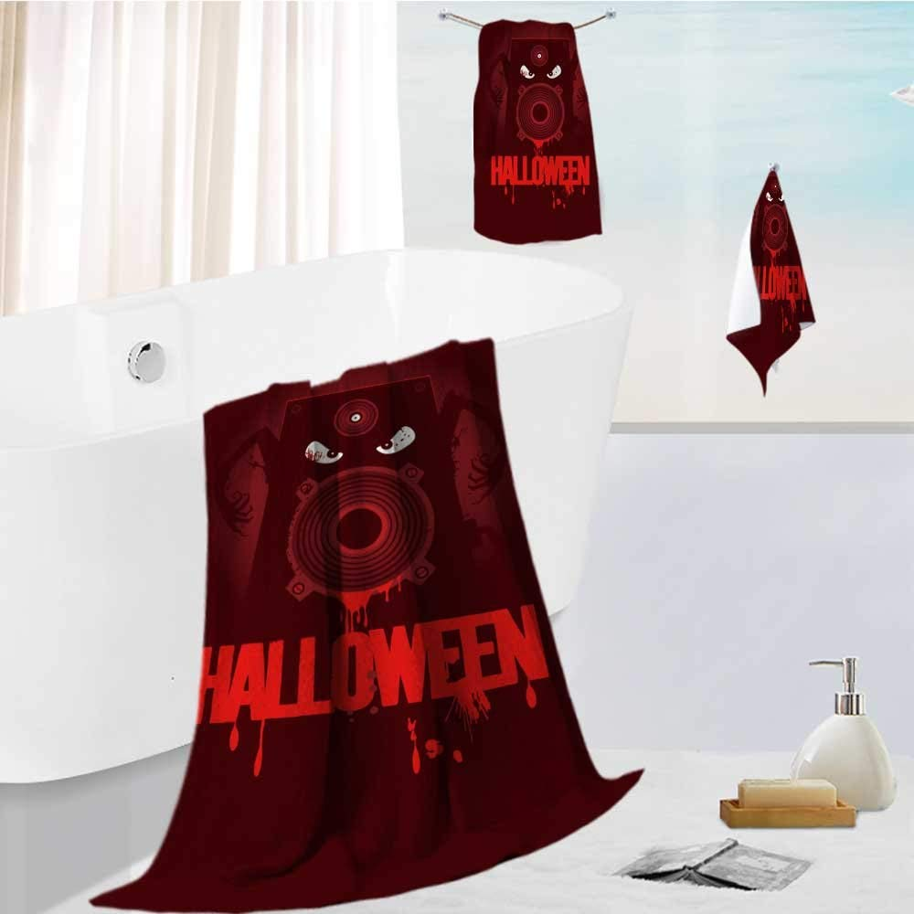 """AuraiseHome joker bath towel set Halloween party design with wicked bloody speaker,rasterized version. Highly Absorbent Machine Washable 19.7""""x19.7""""-13.8""""x27.6""""-31.5""""x63"""""""