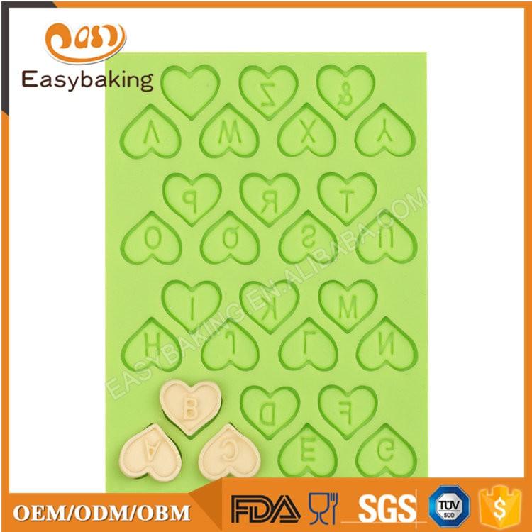 ES-6016 Alphabet Fondant Mould Silicone Molds for Cake Decorating