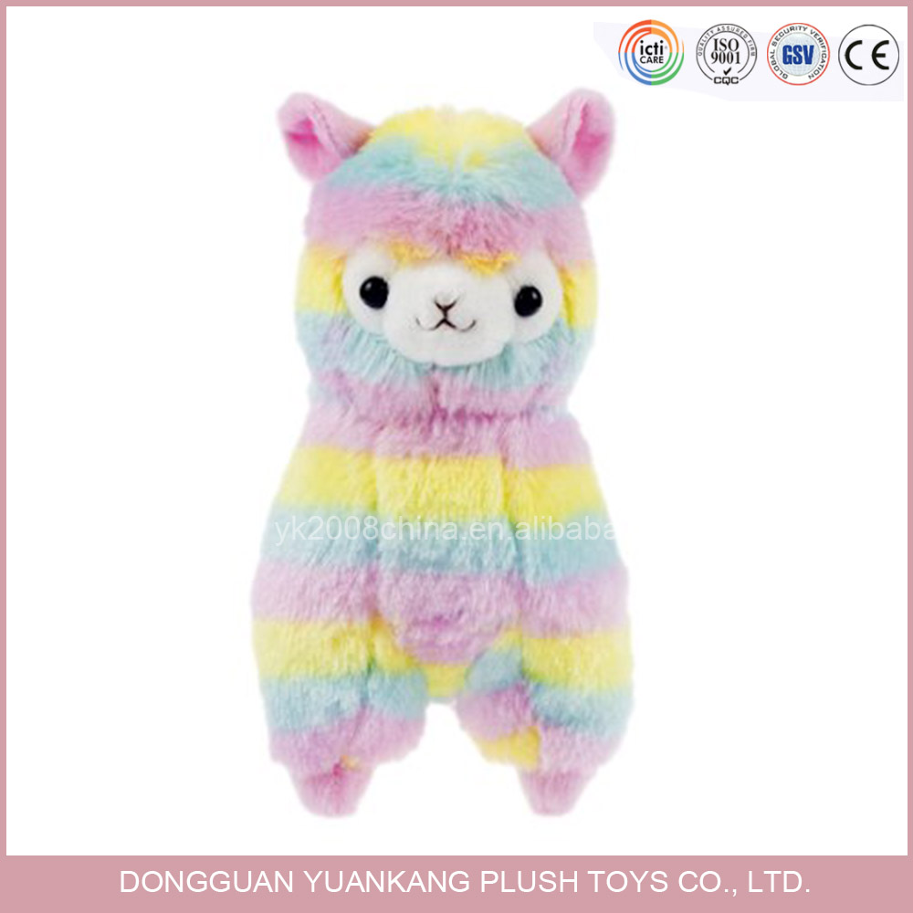 YK ISO9001 ODM manufacture in China customized cotton colorful handmade infant standing PLUSH SHEEP for kids