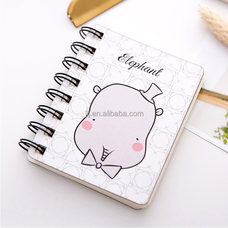 Cute animal cartoon rollover coil take mini portable notebook pocket notebook