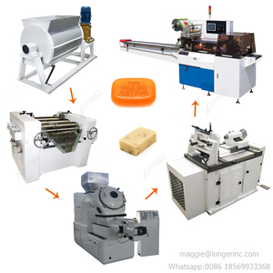 Small Scale Laundry Bar Toilet Soap Making Machine Price Soap Production Line