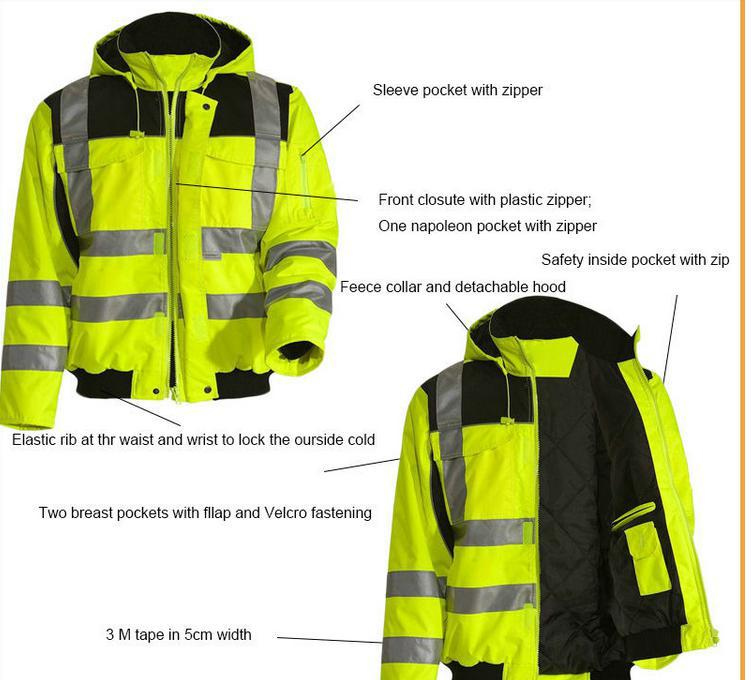 Hot Sale En 471 Safety High Visibility Construction Worker Jacket ...