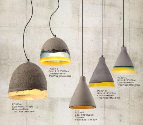 Diseño Idea Cemento Moderno Colgante Lámparas Cemento Iluminación ...
