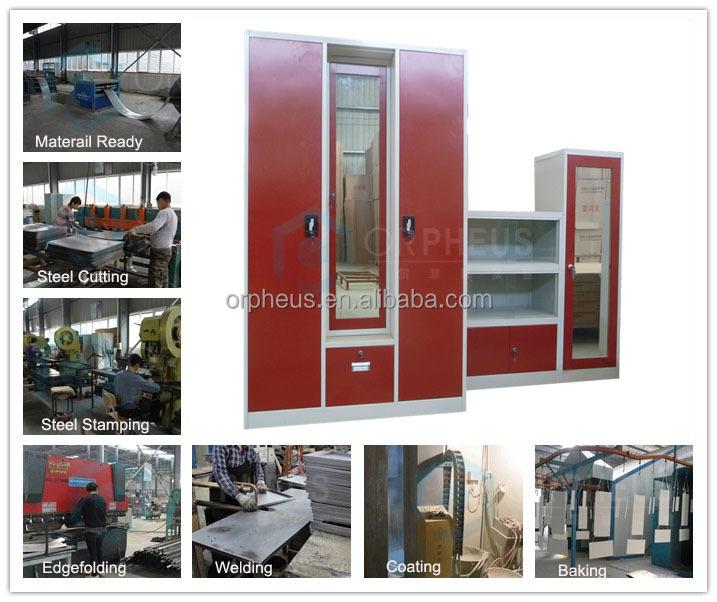 Laminated New Wardrobe Stainless Steel Cupboard Bedroom Cupboards