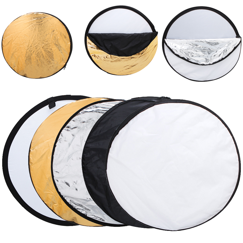 24 60cm 5 in 1 Portable Photo Studio Reflector Multi Photo Disc Collapsible Light Reflector Photography