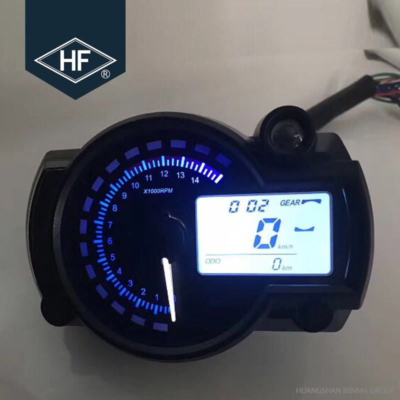 7 Color Backlight Universal Motorcycle Lcd Display Digital
