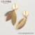 98021 Xuping fashion jewelry multicolor gold plated new design Feather shape charm drop earrings
