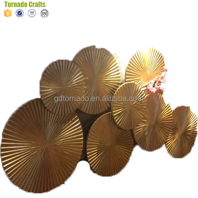 Beautiful Wall Hanging Decoration Ideas With Unique Exceptional Golden circle wall sculptures