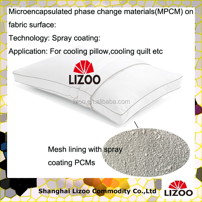 Temp Assure Pillow Pcm Cooling Spray Coating Mesh Lining ...