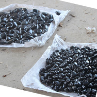 China natural black landscaping cobble stone