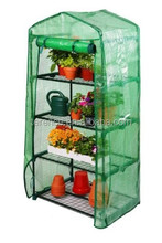4 Tier Mini Greenhouse with Shelves & Reinforced PE Replacement Cover