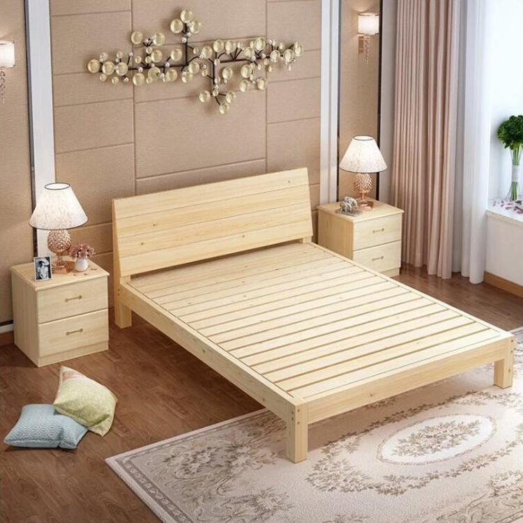 Single Bed Modern Minimalist Bedroom Furniture Wooden Bed
