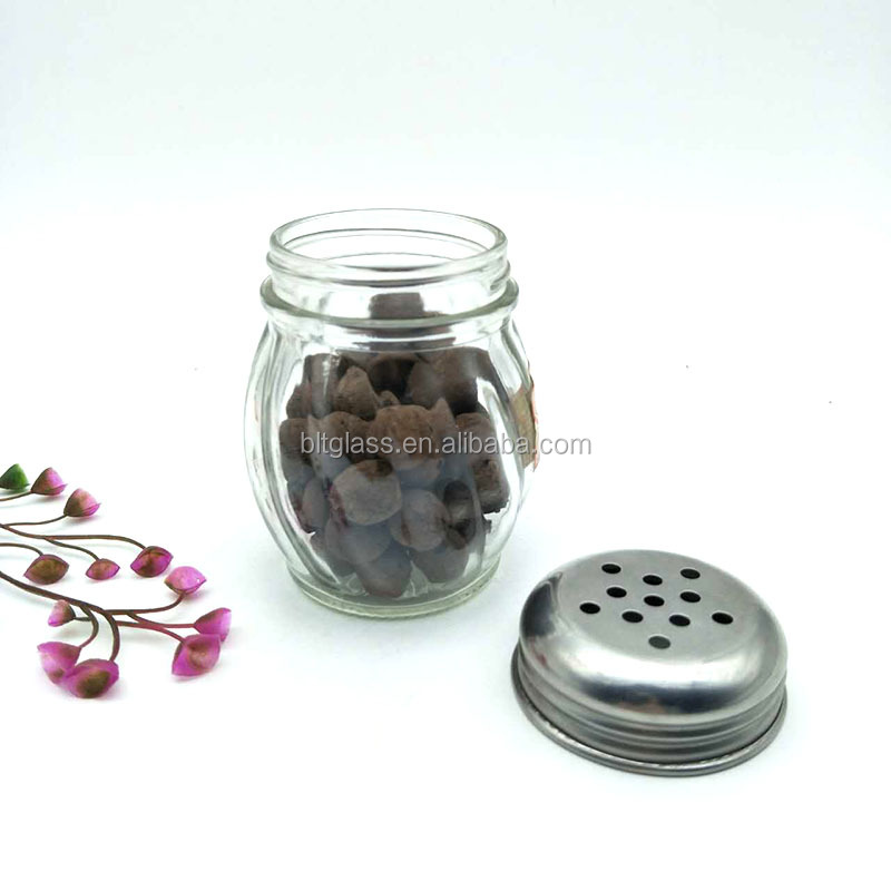 150ml ball shape spice jar mini glass bottle jar himalayan salt