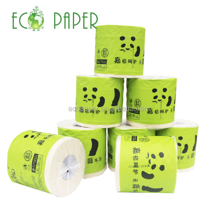 Custom small disposable bamboo sugar cane toilet paper roll warehouse