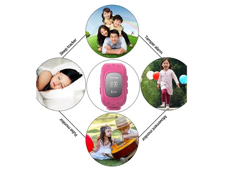 Children GSM mobile phone wrist watch Q50 kids GPS security tracker ...
