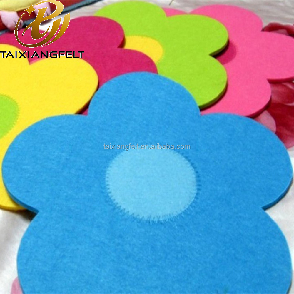 Felt Coasters for Drinks, Car Drink Coasters/Soft Art Flower Coasters, Personalized and Funny Absorbent Cup Coaster Set