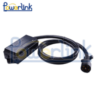 H60019 7 Way Plug Inline Trailer Cord Junction Box 6 Feet Cable Towing Wiring