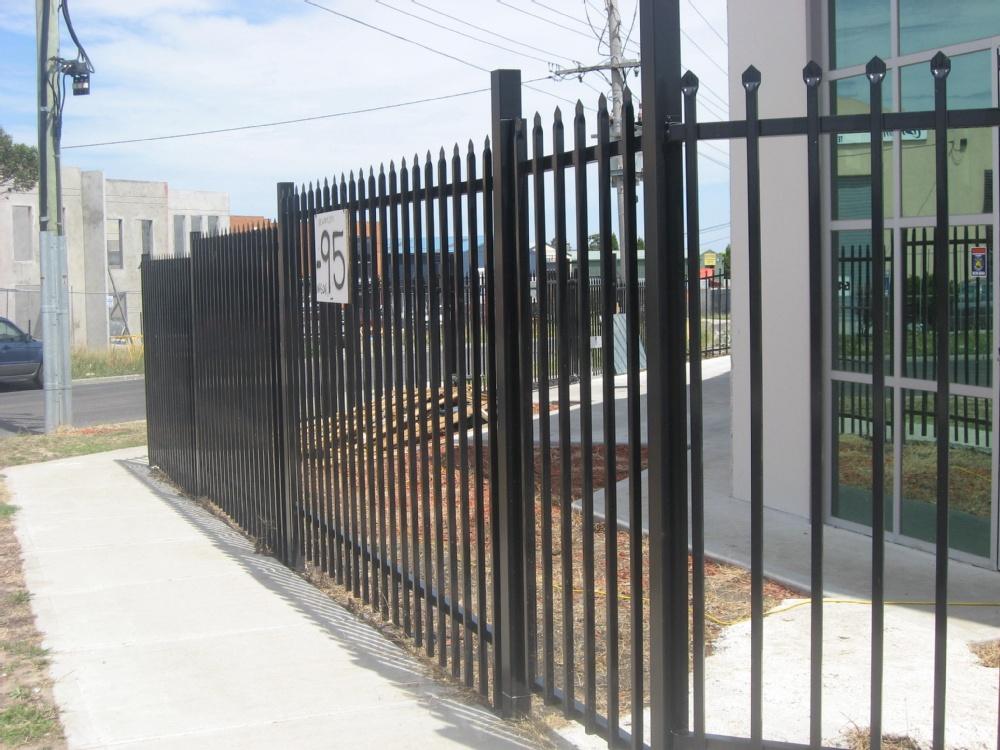 Prefabricated steel fence posts
