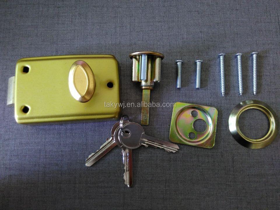 Taky Cheapest 558b Golden Metal Rim Door Lock