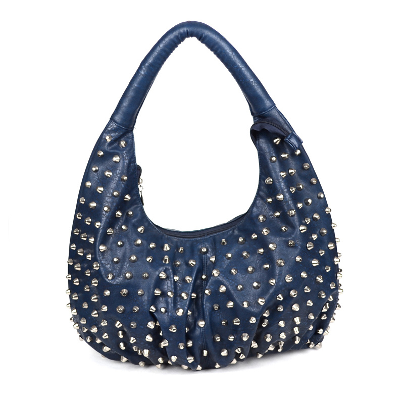 fe18c4bf4d Get Quotations · Women luxury tote bag Rivet bags for women Lady PU leather  handbag High Quality Generous Noble