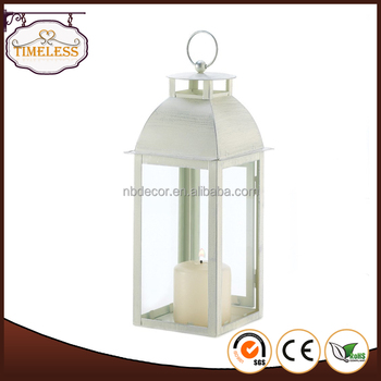 Home Decor Ivory Color Metal Lantern