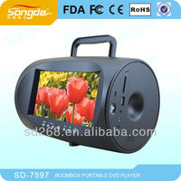 Factory cheap 7inch portable dvd player with high quality/7.8inch cheap price portable dvd player