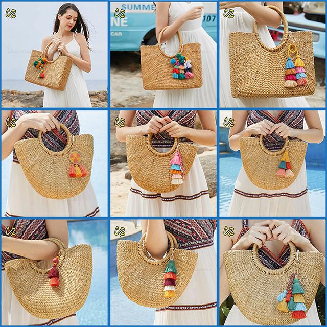 tote bag natural lady beach bag straw bag.jpg
