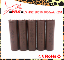 18650 3000mah LG HG2 inr18650 3.7v icr battery 20A discharge li-ion power battery for ecig lg hg2