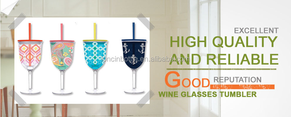 12oz Wine Tumbler With Stem Sippy Cup 13 Ounce Insulated Gl