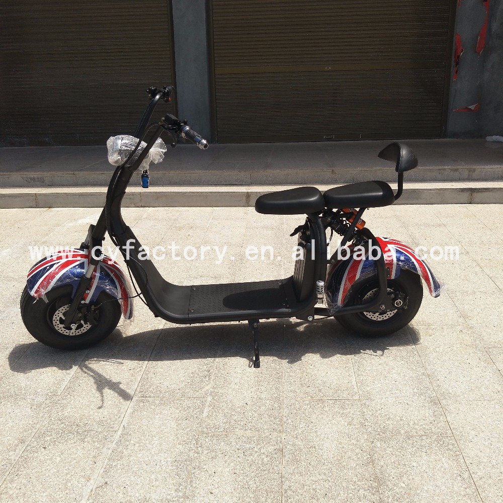 Electric mobility scooter parts fat tire removable battery citycoco electric scooter wholesale