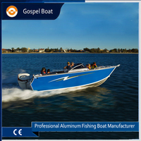 Factory Sale 17ft Bowrider Aluminum Motor Boat for Fishing