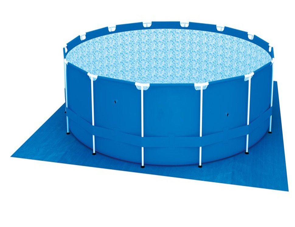 Best seller 56598 China round metal frame above ground swimming pool family yard pool with ladder