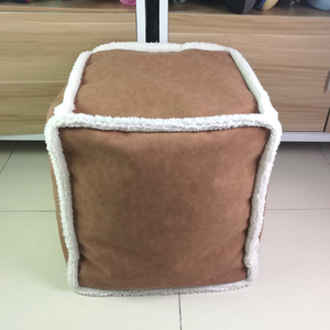 SZPLH Square PU leather Microbeads Filling Pouf Cube Chairs With Suede Bottom