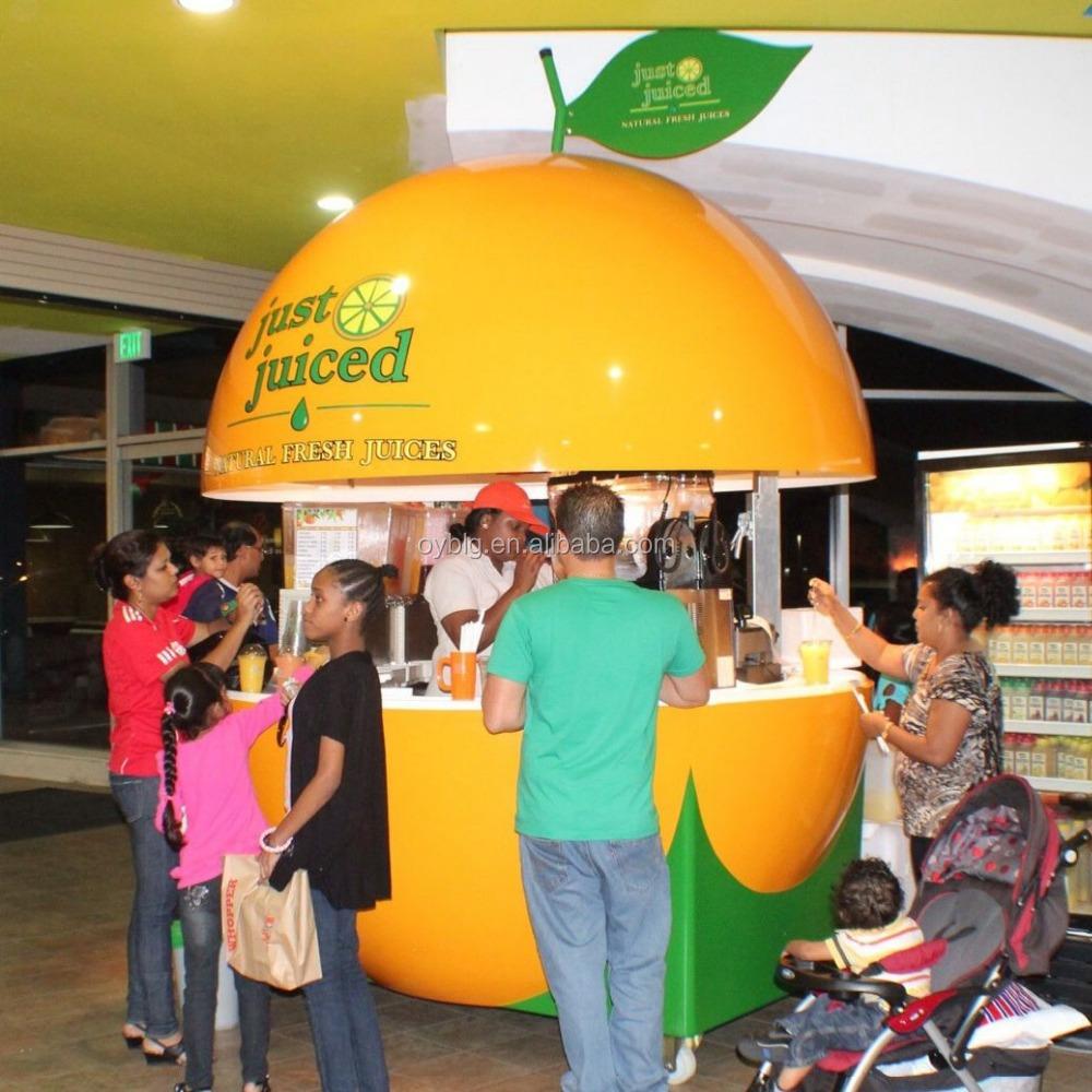 Fiberglass Mobile Outdoor Orange Kiosk juice Bar food Cart Buy Mobile Food Cart Design Modern Mobile Food Cart Fast Food Carts Kiosk Product on